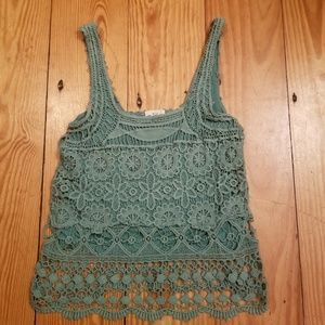 Urban Outfitters Pins and Needles Crochet Top